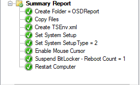 Configuration Manager OSD Summary Report